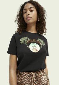Scotch & Soda - Print T-shirt - black - 3