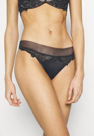 OVERSIZETRIM THONG - String - black