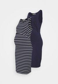 Anna Field MAMA - NURSING - 2 PACK - Jersey dress - Jerseykjole - dark blue/multicoloured - 0