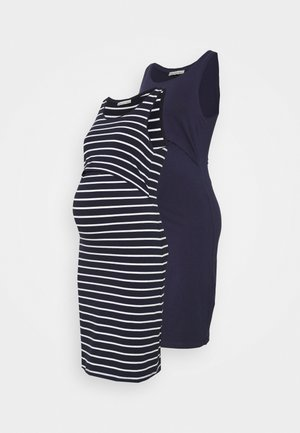 NURSING - 2 PACK - Jersey dress - Jerseykjoler - dark blue/multicoloured