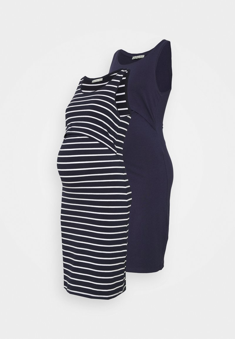 Anna Field MAMA - NURSING - 2 PACK - Jersey dress - Jerseykjole - dark blue/multicoloured