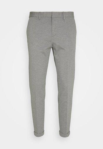 CROPPED - Pantalones chinos - light grey twill