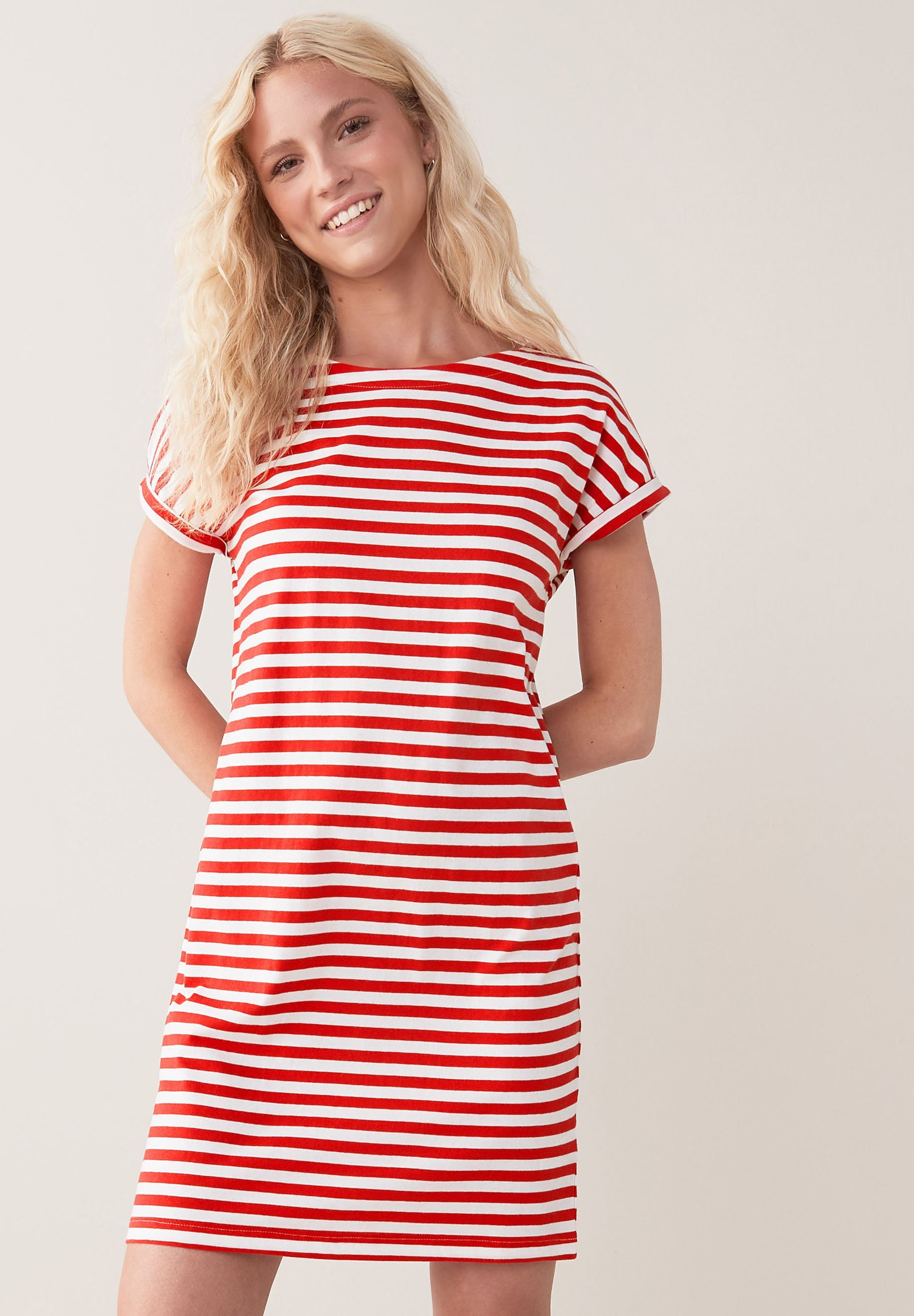 Damen MORRIS & CO. AT NEXT RELAXED CAPPED SLEEVE TUNIC DRESS - Jerseykleid