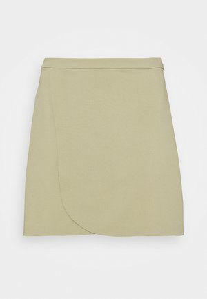 MATHILDE GØHLER BUTTON DETAIL SKIRT - Miniskjørt - khaki