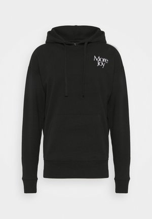 MORE JOY EMBROIDERED CLASSIC HOODY UNISEX - Mikina skapucí - black/white