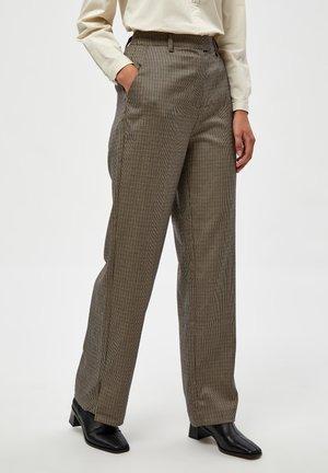 Kalhoty - mixed houndstooth