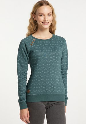 DARIA CHEVRON - Sweater - dark green