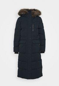 Superdry - LONGLINE FAUX FUR EVEREST COAT - Winter coat - eclipse navy - 5