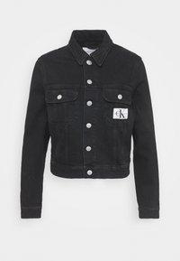 Calvin Klein Jeans - CROP TRUCKER - Denim jacket - washed black - 4