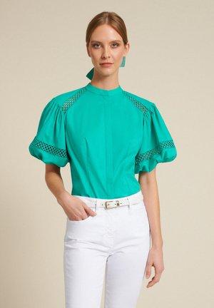 BAUNY - Button-down blouse - turchese