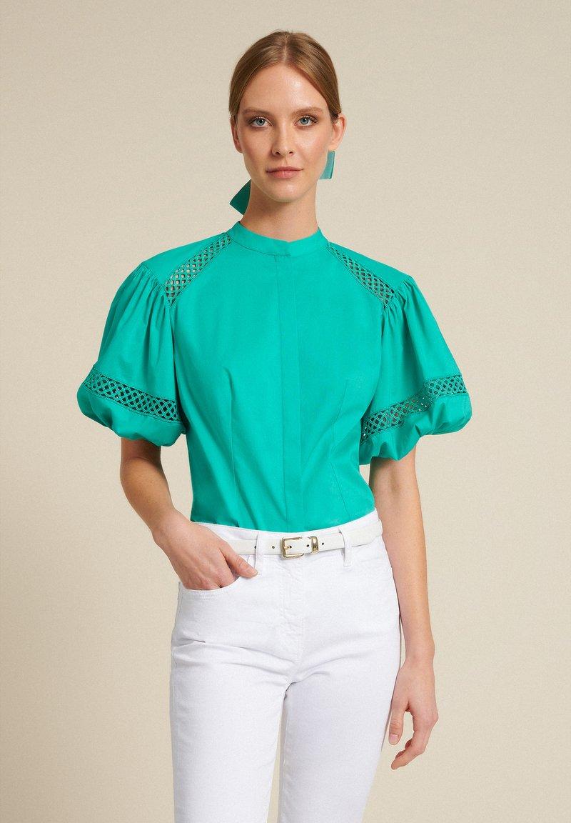 Luisa Spagnoli - BAUNY - Button-down blouse - turchese