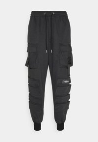 Sixth June - FRONT BUCKLE POCKET PANT - Cargo trousers - mottled black - 0