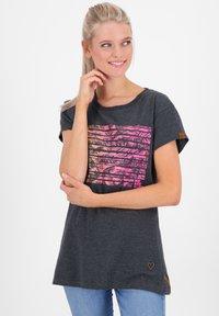 alife & kickin - MAXINEAK - Print T-shirt - marine - 0