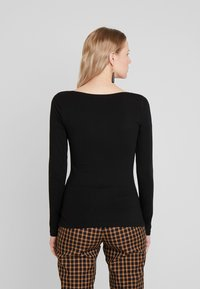 Anna Field - BASIC ROUND NECK LONG SLEEVES - Topper langermet - black - 2