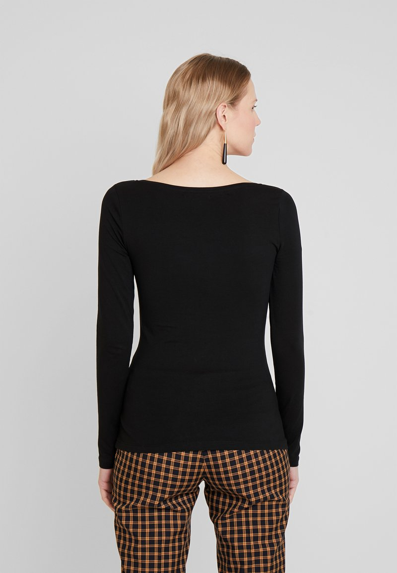 Anna Field BASIC ROUND NECK LONG SLEEVES - Langarmshirt - black/schwarz vQ4LdE