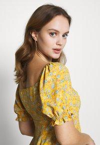 Miss Selfridge Petite - BUTTON MILKMAID TEA DRESS - Day dress - ochre - 3
