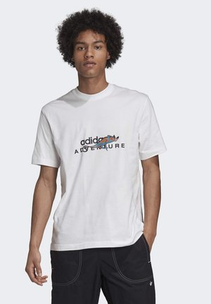 ADVENTURE GRAPHIC T-SHIRT - T-shirt z nadrukiem - white
