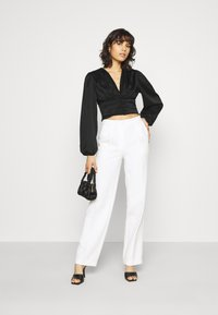 Gina Tricot - VICTORIA BLOUSE - Long sleeved top - black - 1