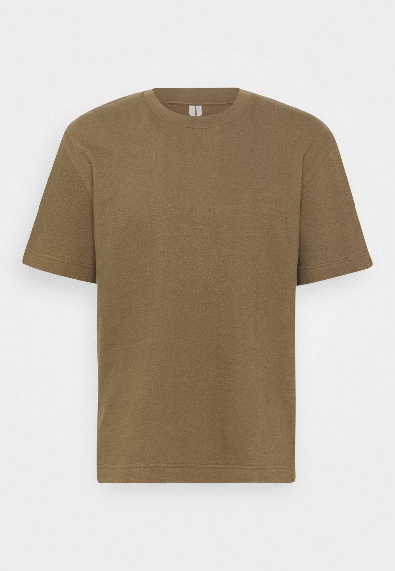 ARKET - BASIC TOWELLING T-SHIRT - T-paita - brown