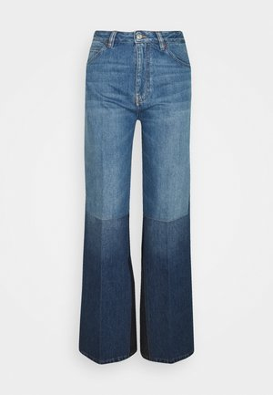 PATCHWORK - Flared Jeans - washed indigo