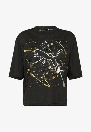 METAL SPLASH GRAPHIC TEE - Print T-shirt - black