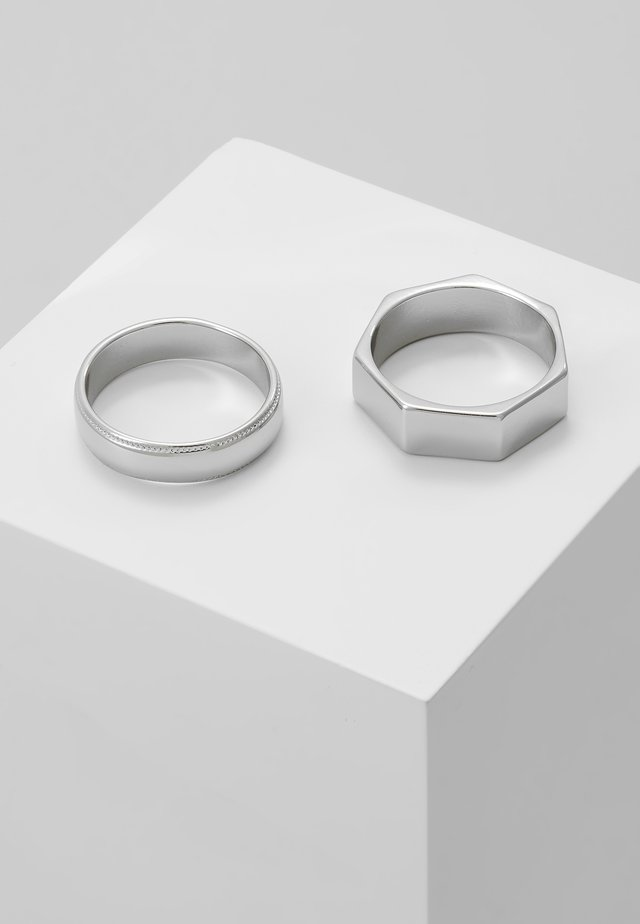 SHAPE 2 PACK  - Ring - silver-coloured