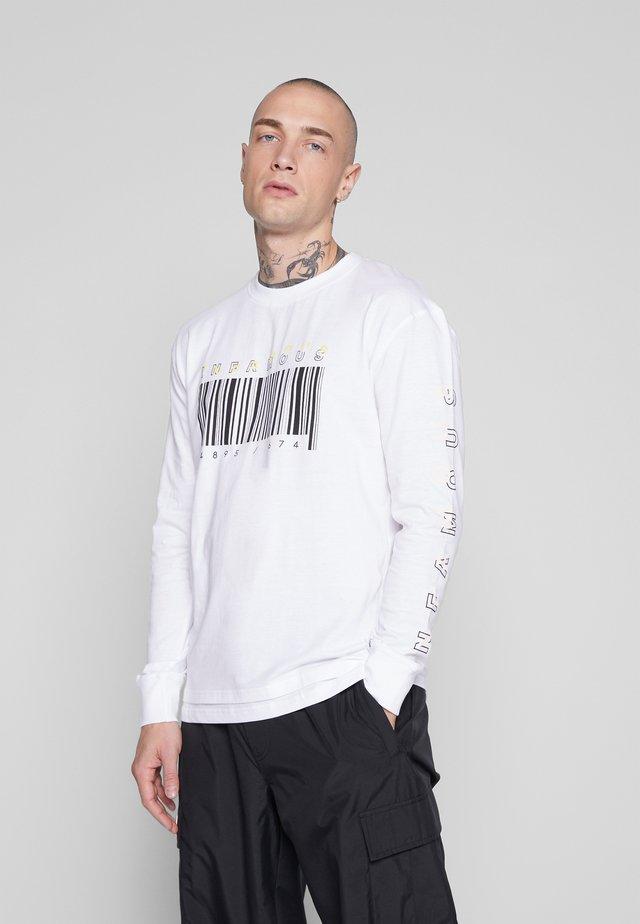 LONG SLEEVE SLOGAN ARCADE TEE - Pitkähihainen paita - white