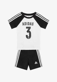 adidas Performance - SPORT SUMMER TRACKSUIT BABY SET - Trainingspak - white/black - 3