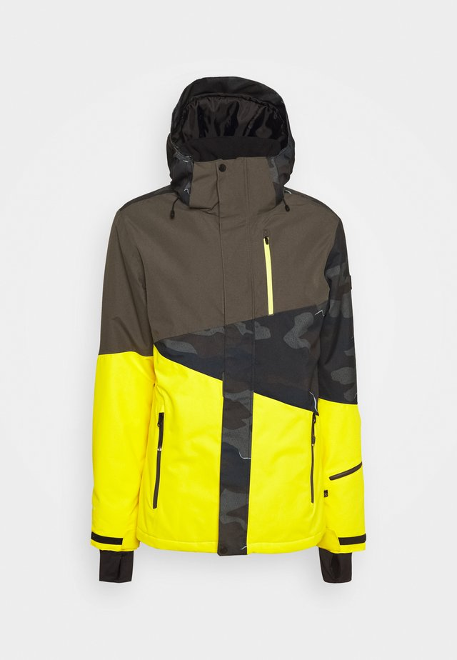 IDAHO MENS SNOWJACKET - Snowboard jacket - cyber yellow