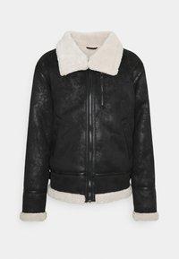 Sixth June - REGULAR AVIATOR JACKET - Faux leather jacket - black - 0
