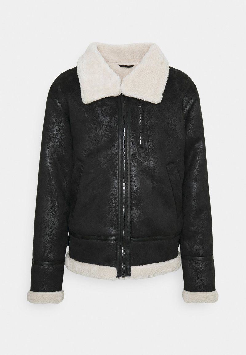 Sixth June - REGULAR AVIATOR JACKET - Faux leather jacket - black