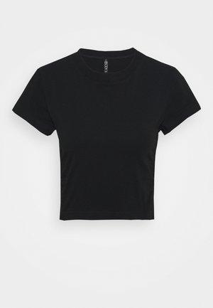 SIDE GATHERED - Camiseta básica - black