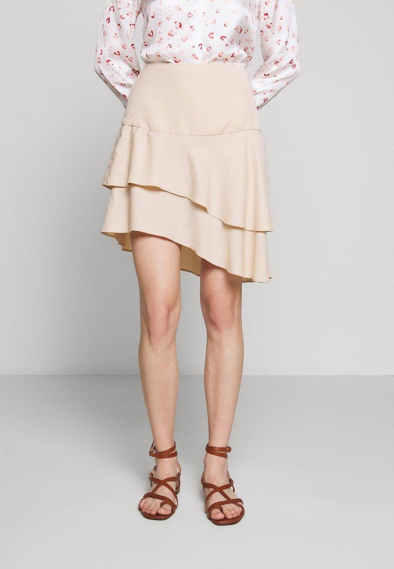 Bruuns Bazaar - LAERA DOLPHINE SKIRT - A-line skirt - sand