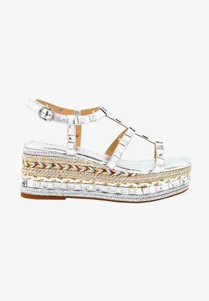 DAYTONA - Wedge sandals - silver