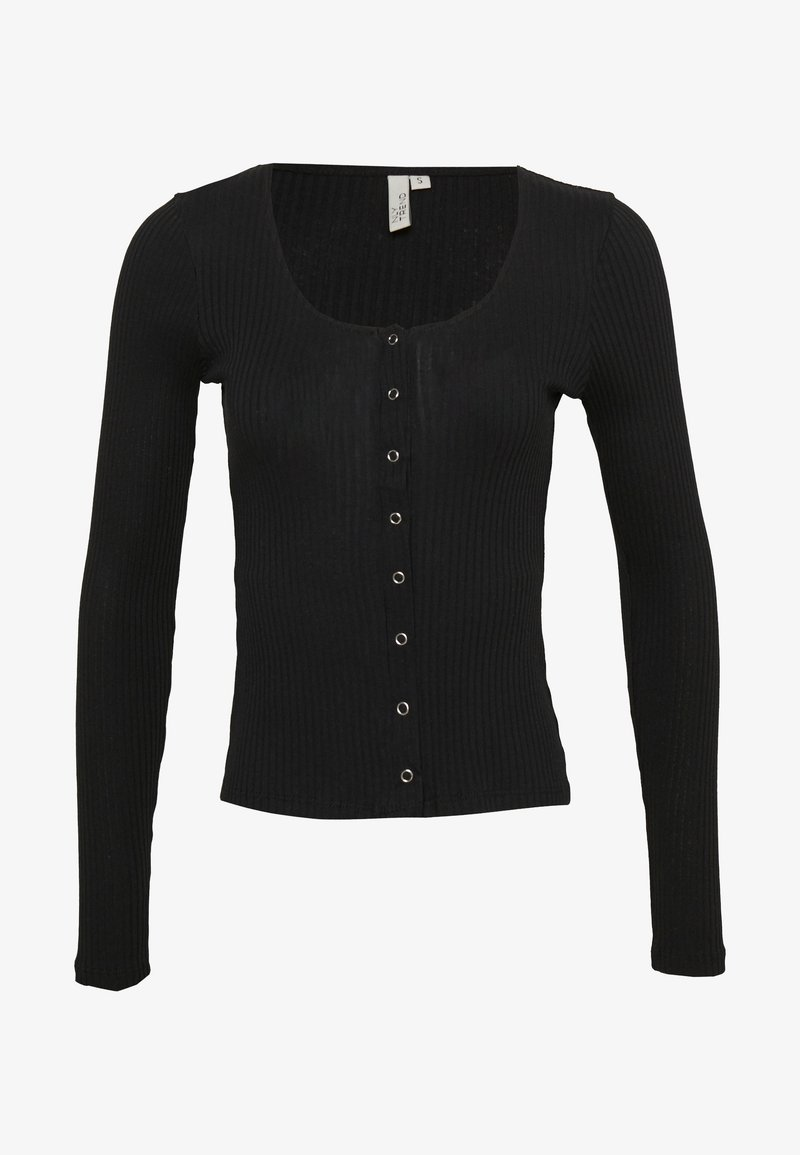 Nly by Nelly - FRONT BUTTON TOP - Cardigan - black