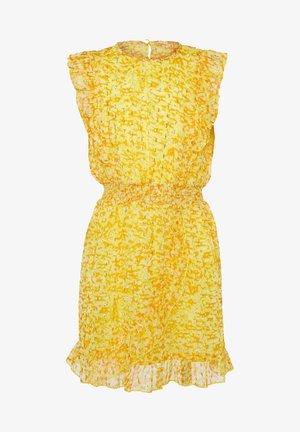 WE FASHION MEISJES JURK MET GLITTERDETAILS - Korte jurk - yellow
