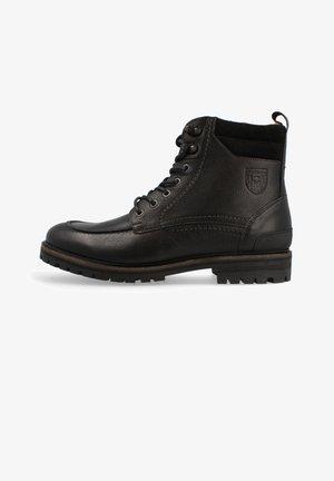 Lace-up ankle boots - triple black