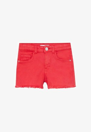 MET GERAFELDE ZOMEN - Denim shorts - rood