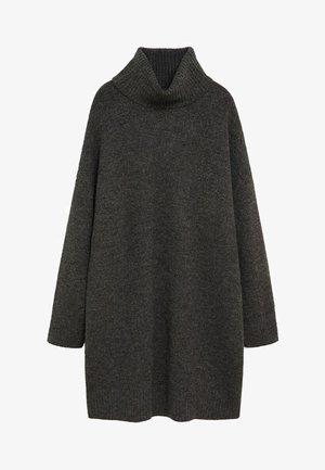 TALDORA - Sukienka dzianinowa - tmavě šedá vigore