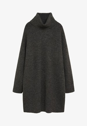 TALDORA - Gebreide jurk - tmavě šedá vigore