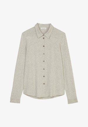 LONG SLEEVE, COLLAR, BUTTON PLACKET - Button-down blouse - stony grey melange