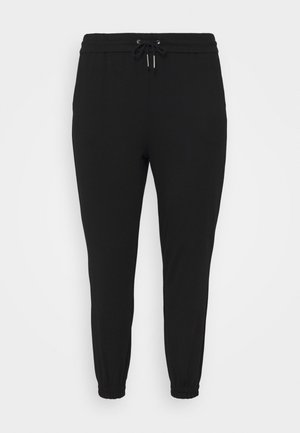 VMEVA LOOSE TRACK PANTS - Tracksuit bottoms - black