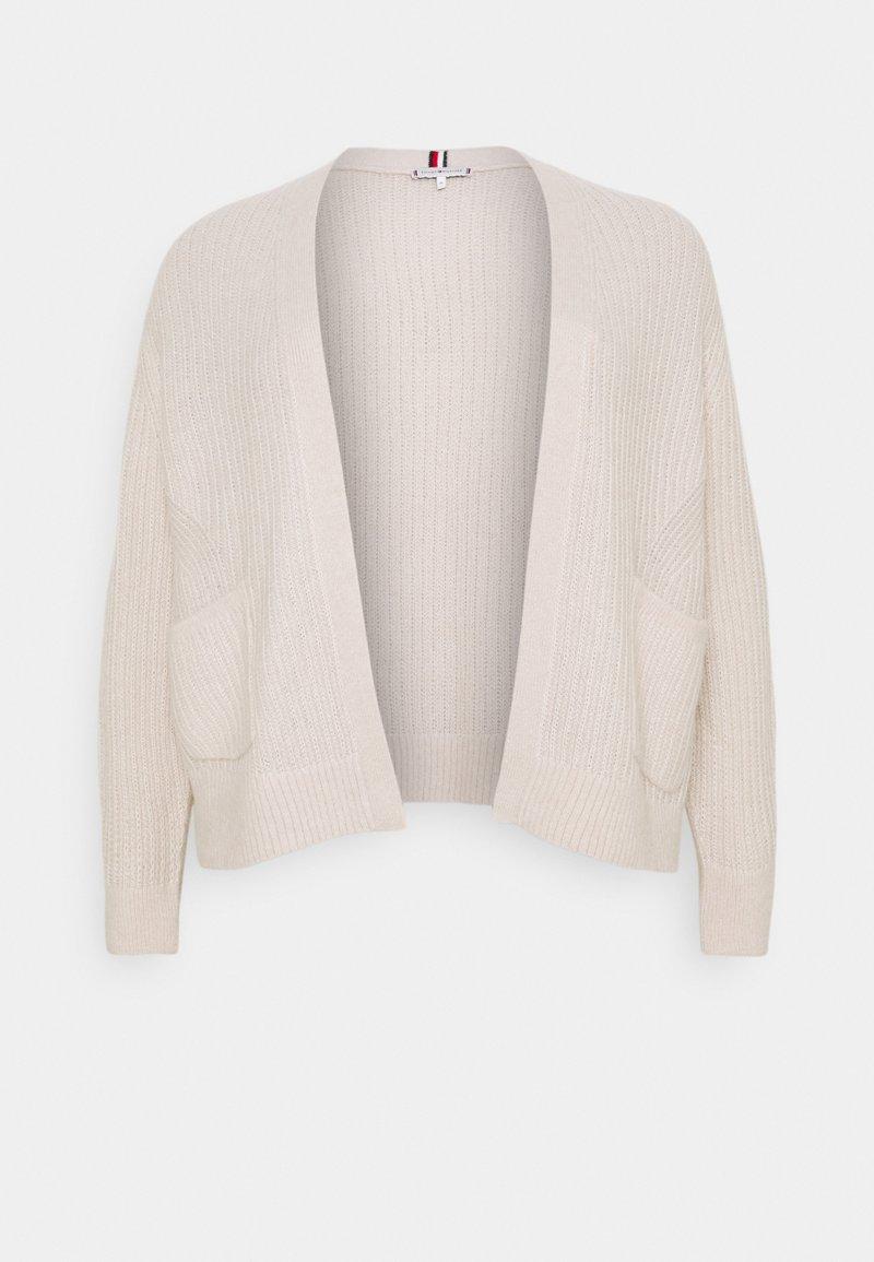Tommy Hilfiger Curve - TEXTURED STITCH OPEN CARDI - Cardigan - vintage white