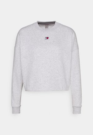 CROPPED CREW LOGO - Felpa - ice heather