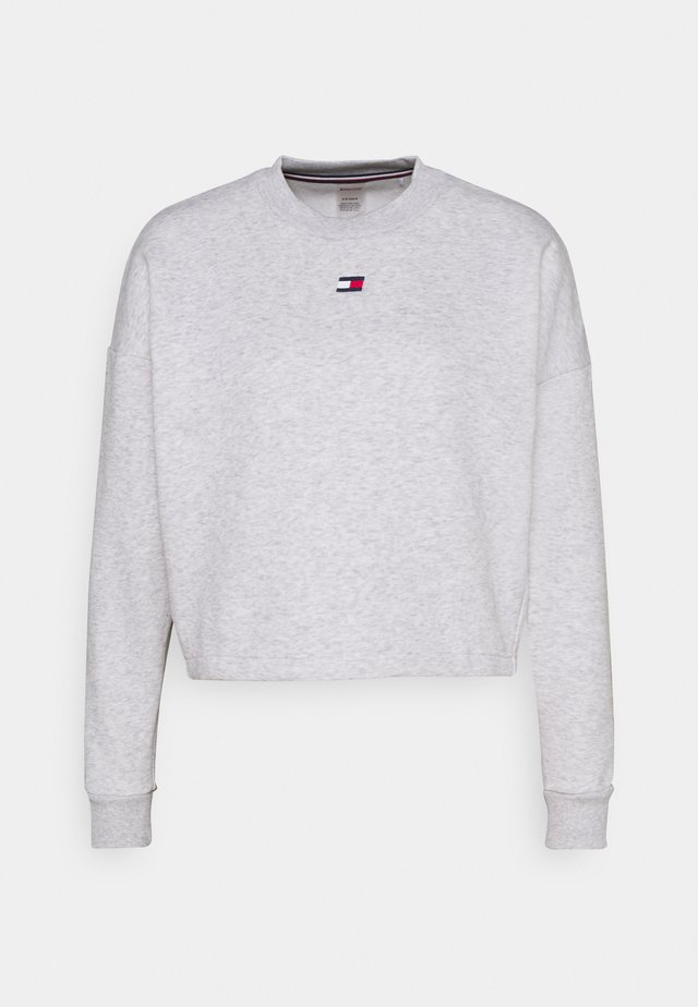 CROPPED CREW LOGO - Sweatshirt - ice heather