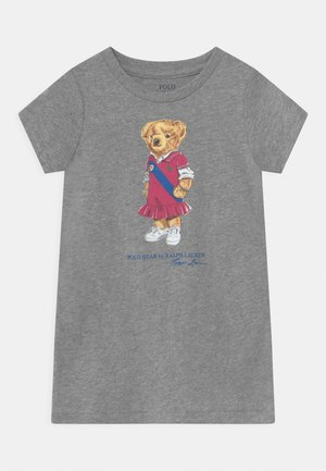 BEAR - Jersey dress - andover heather