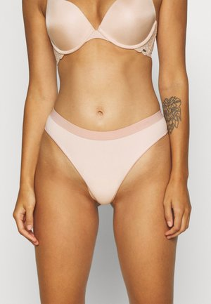ULTRA-FINE MID-RISE THONG -  2 PACK - String - blush