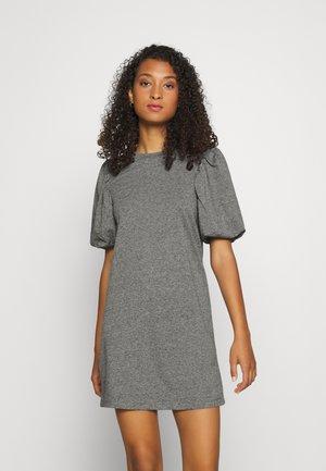 JDYMIA PUFF SLEEVE DRESS - Denní šaty - medium grey melange