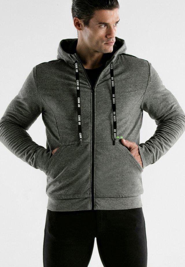 veste en sweat zippée - gris