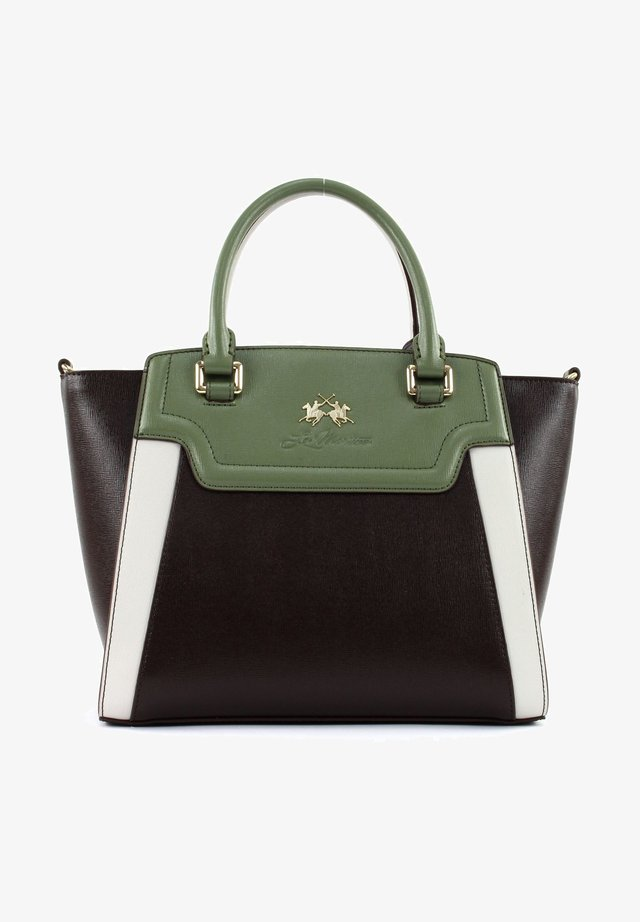 LA PORTENA  - Handbag - lode green / bracken / white sand